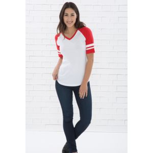 ATC EUROSPUN RING SPUN LADIES BASEBALL TEE Thumbnail